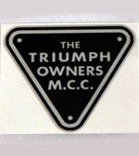 Silver sticker with TOMCC Racing logo